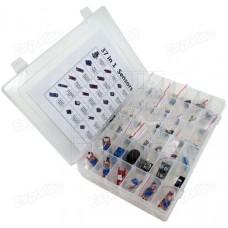 Sada 37 různých senzorů v plastové krabičce