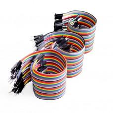 Sada 120ti propojovacích kabelů, 10cm, M/F, F/F, M/M