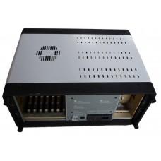 """Precizní hliníková skříň s ventilátorem a ližinami pro moduly, 5U, 19"""""""