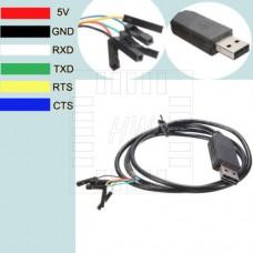 Převodník USB / RS232, FT232RL, 6PIN (CTS, RTS)