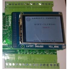 ARMOSY-2, Zobrazení textu a obrázku na UTFT, řadič ILI9341, 8bit, příklad