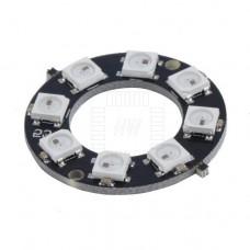 8x inteligentní RGB LED NeoPixel, WS2812B, kruh, 5050, 5V