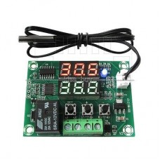 Digitální termostat -50°C ~ +110°C, 2x LED, hystereze, chlazení/topení, NTC senzor, 12V