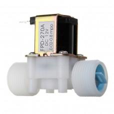 """Solenoid, elektromagnetický ventil, 3/4"""", 12V DC, přímý, plast, FPD-270A, NC"""