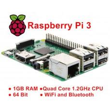 Raspberry Pi 3 model B, Quad Core, 1.2GHz, 64bit, 1G RAM, Wifi, Bluetooth 4.1