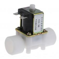 """Solenoid, elektromagnetický ventil, 3/4"""", 12V DC, přímý, plast, DCF-HS15K, NO"""