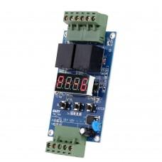 Dvojitý programovatelný časový spínač s detekčním voltmetrem, 0.1s ~ 9999m, 12V, EAZY-VLC