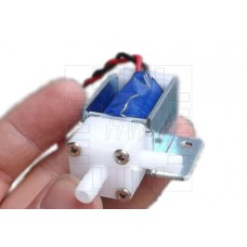 Solenoid, miniaturní elektromagnetický ventil, 5.5mm, 12V DC, 90°, plast, NO