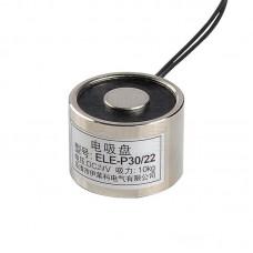 Kruhový elektromagnet, Solenoid, 12V DC, 5W, P30-22, 10kg