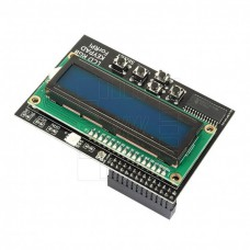 Raspberry LCD 2x16 znaků, 5 tlačítek, RGB LED, I2C, modrá