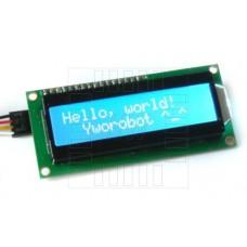 LCD  podsvětlený 2x16 znaků (modrá), I2C modul, 1602A