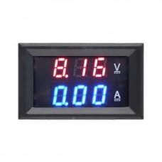 Panelové měřidlo - voltmetr 0~100V,  ampérmetr 0~10A