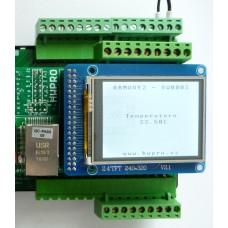 ARMOSY-2, Zobrazení teploty senzoru DS18B20 na UTFT, příklad