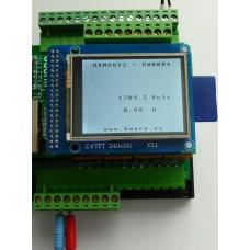 ARMOSY-2, Měření proudu 0~20A s obvodem ACS712, příklad