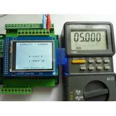 ARMOSY-2, Převod napětí  0~10V se zobrazením na LCD, příklad