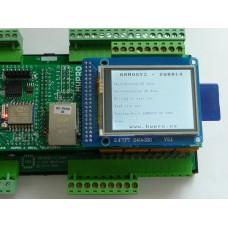 ARMOSY-2, Zápis a čtení  SD karty se zobrazením na LCD, příklad