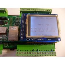 ARMOSY-2, PWM 2Hz-40kHz, ovládání podsvícení dotykového displeje UTFT, OUT1, příklad