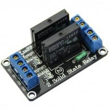 Elektronické SSR relé 2x, modul, 5V, zátěž 2A/240VAC