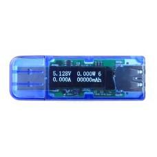 Čtyřmístný USB měřič spotřeby, kapacity, napětí a proudu 0 ~ 3A