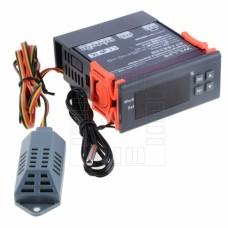 Hydrostat s termostatem, 1% ~ 99%, -50°C ~ +110°C, LED, 230V AC , WH8040
