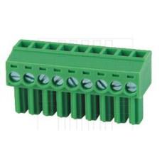 Precizní násuvná svorkovnice, zásuvka se šroubkem, 9 pólů, 320V, 20A, 5mm, 2EDGK-5.0-09P,  90°