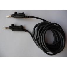 3m propojovací kabel, banánek/ banánek, 90°, černý, silikon