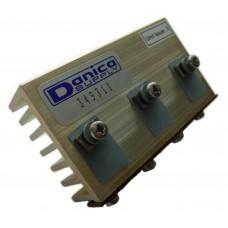 Hliníkový eloxovaný chladič, 3x TO220, 75x42x20mm, komplet