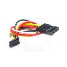 Propojovací kabel 4 x 20cm, samice / samice