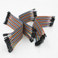 Sada 120ti propojovacích kabelů, 20cm, M/F, F/F, M/M