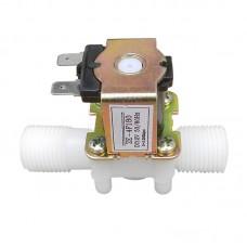 """Solenoid, elektromagnetický ventil, 1/2"""", 12V DC, přímý, plast, NC"""