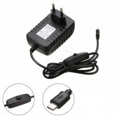 Napájecí zdroj 5V / 3A DC, Raspberry Pi3, Micro USB, ON/OFF
