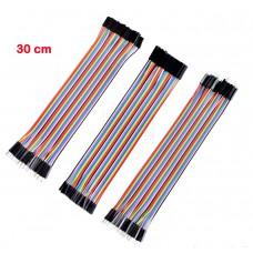 Sada 120ti propojovacích kabelů, 30cm, M/F, F/F, M/M