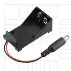 Pouzdro pro 9V baterii s kabelem a konektorem 5.5 x 2.1mm, Arduino