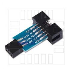 Redukce ISP,  AVRISP USBASP STK500, 10/6 pin