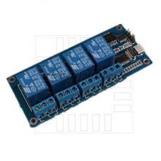 USB modul 4x relé, 5V