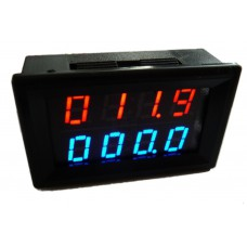 Panelové měřidlo čtyřmístné - voltmetr 0~500V,  ampérmetr 0~200A, BY42A