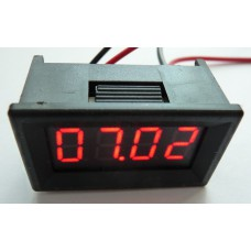 Panelové měřidlo čtyřmístné - ampérmetr 0~20A DC