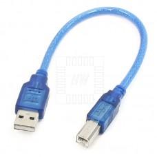 Kabel USB typ A samice / USB typ B samice, 30cm