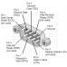 Propojovací rovný sériový kabel, DSUB 09 - DSUB 09, samec / samice, 3m