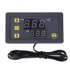 Digitální panelový termostat -40°C ~ +120°C, LED, 1 výstup, senzor 1m, 12V DC, W3230