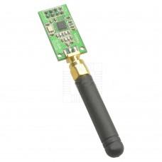 RF CC1101 - Širokopásmový bezdrátový modul 433MHz s anténou, SMA, SPI