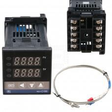 Digitální termostat REX-C100, 0~1200°C, Relé 3A, K senzor 0~400°C, model: REX-C100FK02-M*AN, RKC