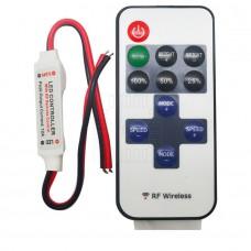 RF bezdrátový regulátor LED, 144W, 5V~ 24V DC, 12A, 433MHz