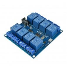 USB modul 8x relé, 5V