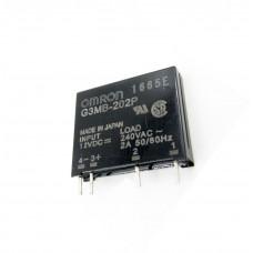 Elektronické SSR relé  G3MB-202P, OMRON, 12V, zátěž 2A/240VAC