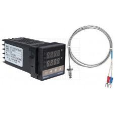 Digitální termostat REX-C100, 0~1300°C, SSR, K senzor 0~400°C, model: REX-C100FK07-V*AN, BERME