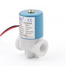 """Solenoid, elektromagnetický ventil, voda/vzduch, 1/4"""", 12V DC, přímý, plast, NC"""