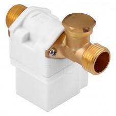 """Solenoid, elektromagnetický ventil, 1/2"""", 12V DC, přímý, mosaz, NC"""
