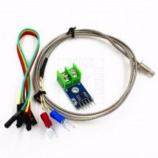 MAX6675 pro K čidla, 12bit konvertor 0°C ~ 1024°C, s čidlem