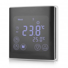 Programovatelný dotykový pokojový termostat s časovačem, C17,  5°C ~ 35°C, 230V AC